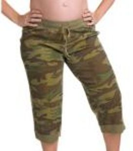 casual camouflage maternity capris