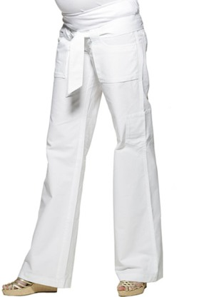 white belted cargo maternity pants