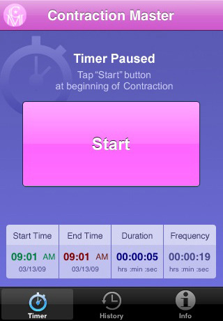 Pregnancy Apps - Contraction Master